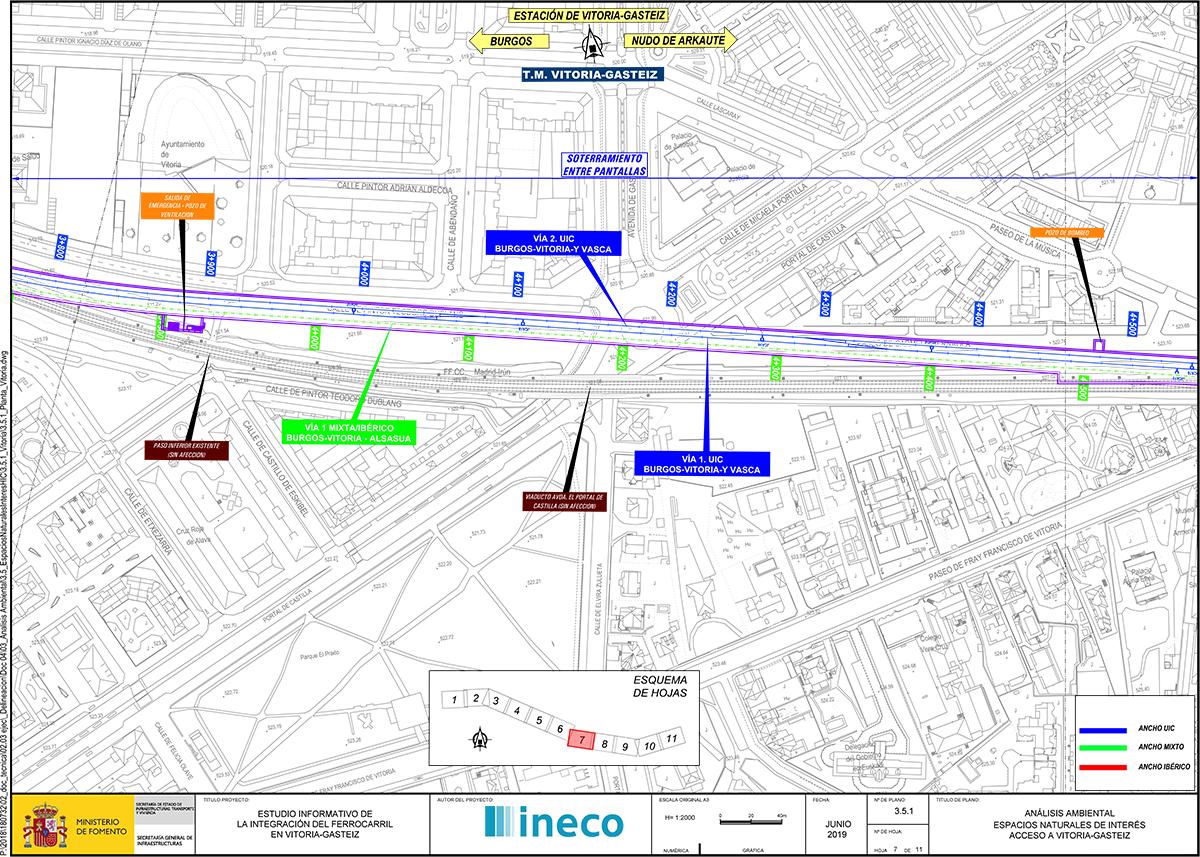 Planos de trazado actual y ubicación de soterramiento.